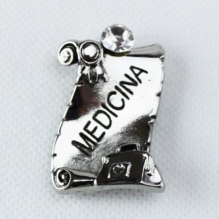 Calamita Magnete Pergamena Laurea in Medicina metallo argentato