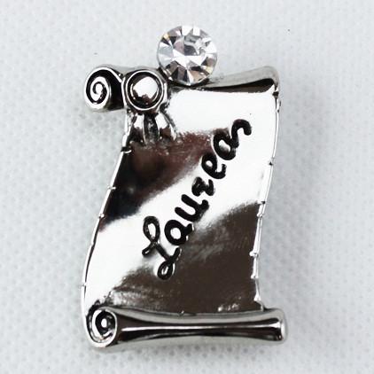 Calamita Magnete Pergamena Laurea metallo argentato