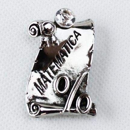 Calamita Magnete Pergamena Laurea in Matematica metallo argentato