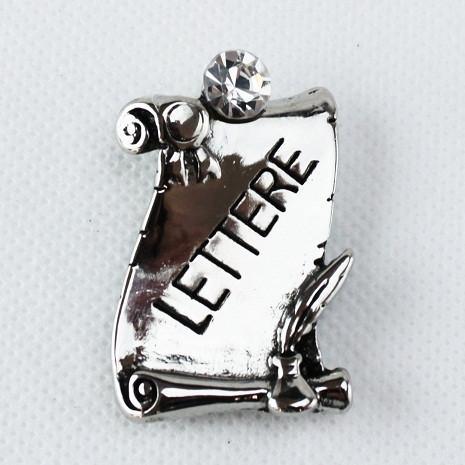 Calamita Magnete Pergamena Laurea in Lettere metallo argentato