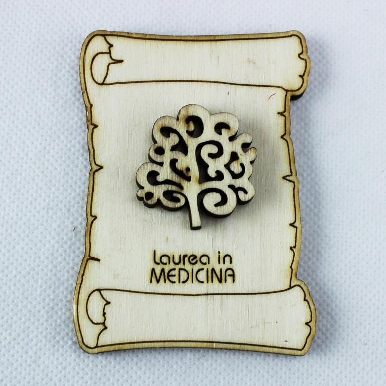 Calamita Magnete Pergamena Laurea in Medicina