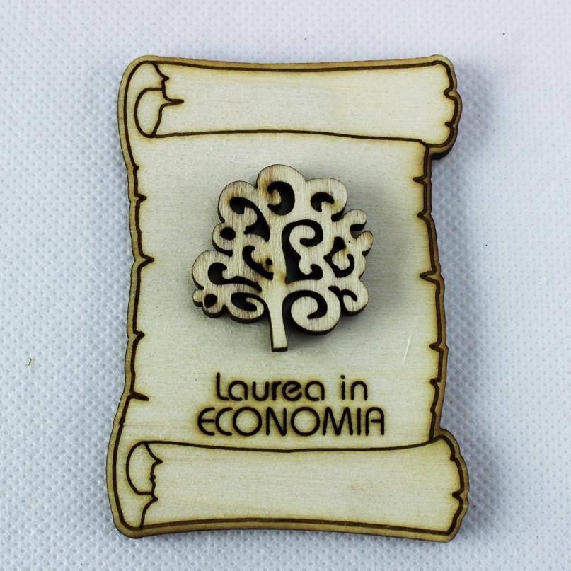 Calamita Magnete Pergamena Laurea in Economia