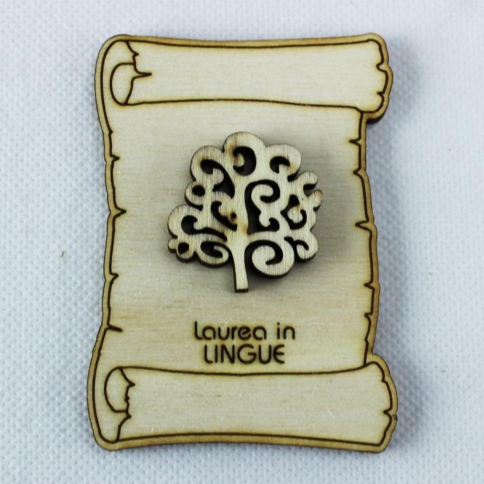 Calamita Magnete Pergamena Laurea in Lingue