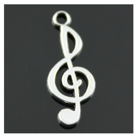 Ciondolo Ciondoli Charm Charms Chiave di Violino Sol Musica Confettata Fai da Te