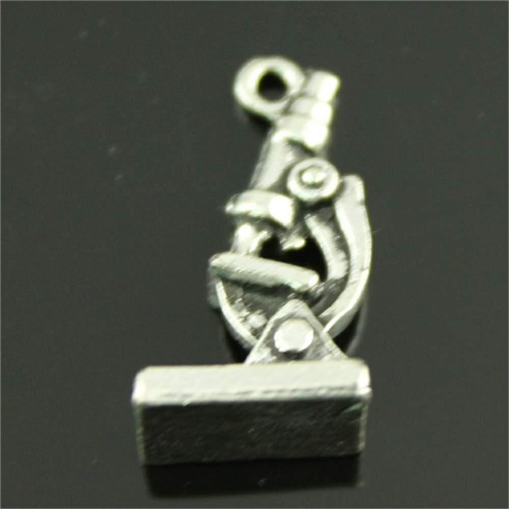 Ciondolo Ciondoli Charm Charms Microscopio Tecnico Sanitario Laurea Analista di Laboratorio Confettata Fai da Te