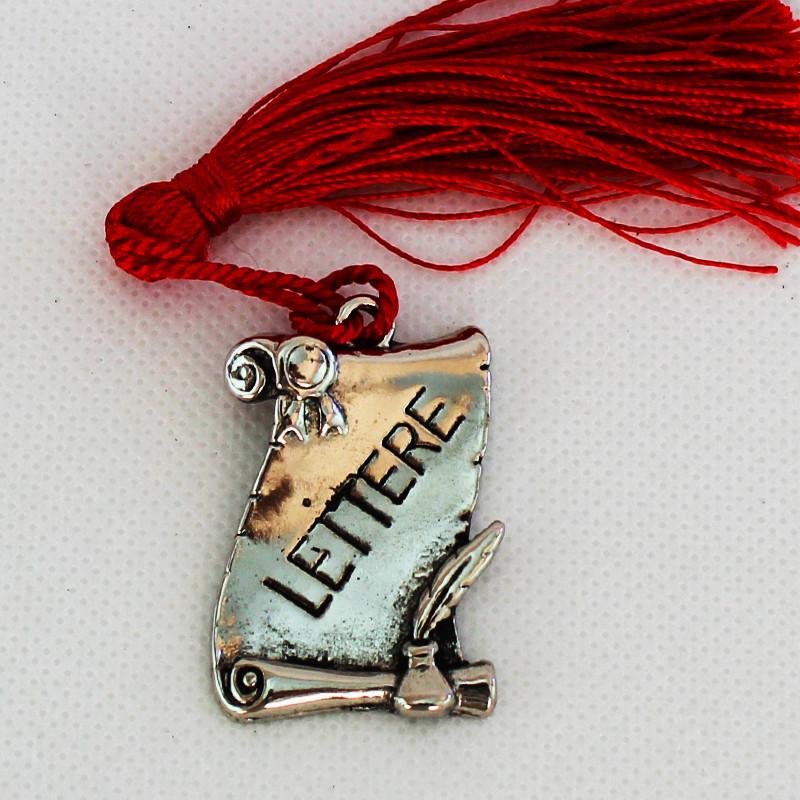Bomboniere Pergamena Laurea in Lettere metallo argentato