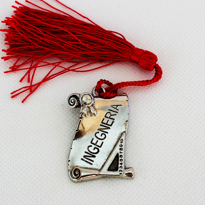 Bomboniere Pergamena Laurea in Ingegneria metallo argentato (kit 24 pezzi)