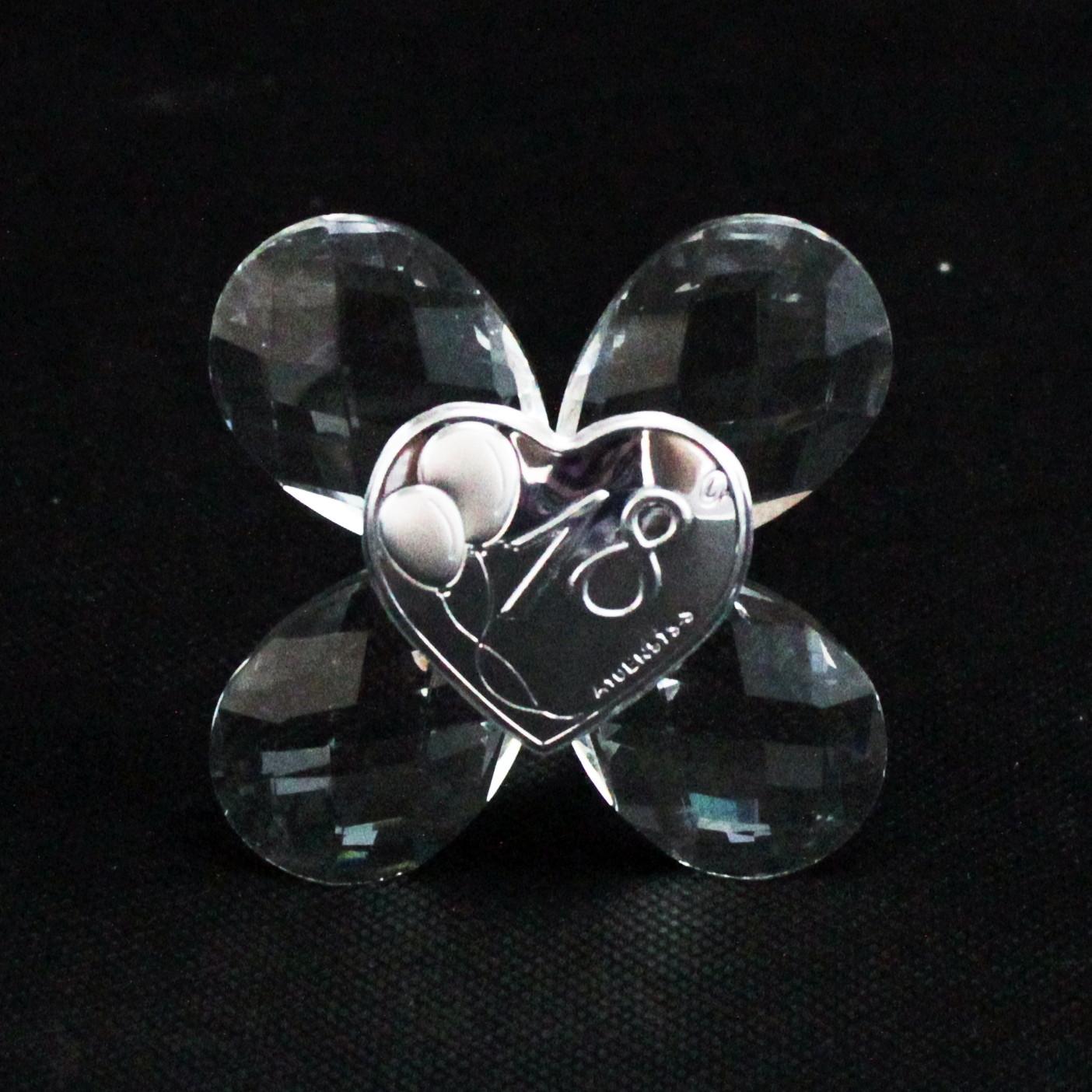 Icona in cristallo Quadrifoglio per 18 Compleanno