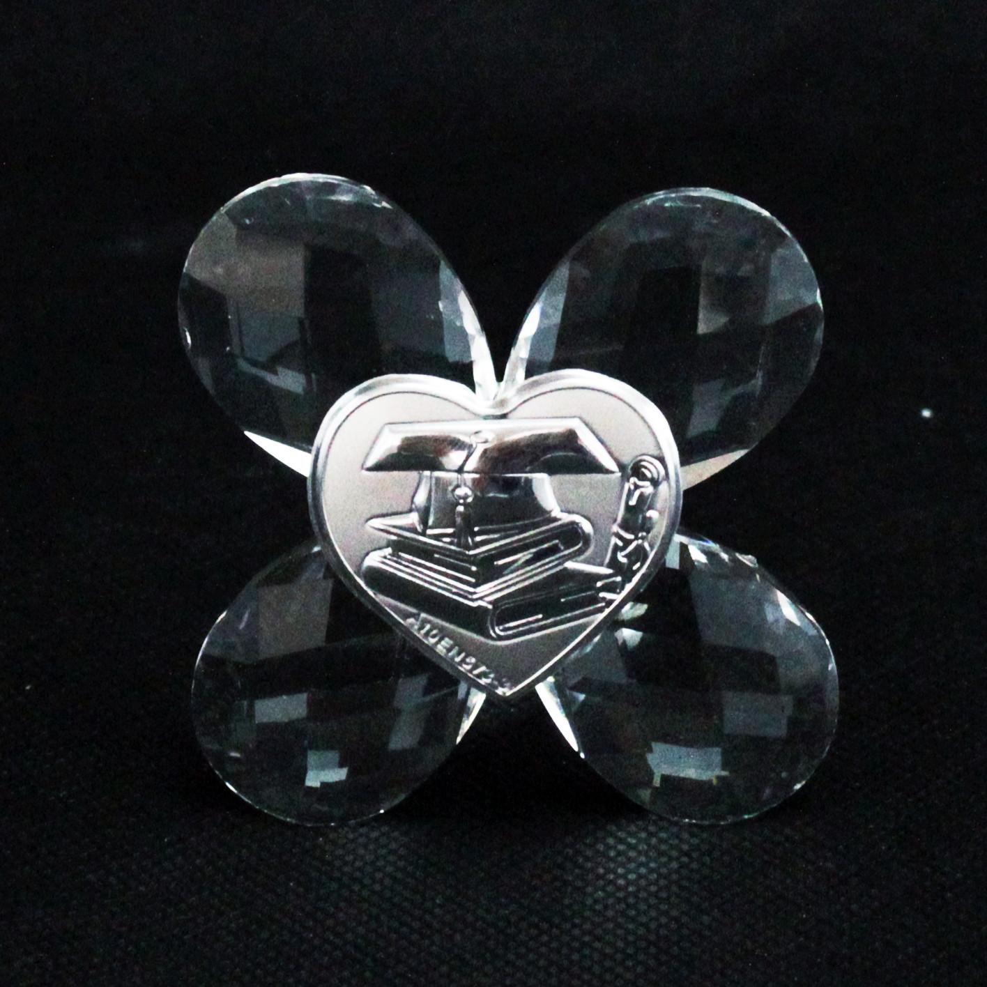 Icona in cristallo Quadrifoglio per Laurea