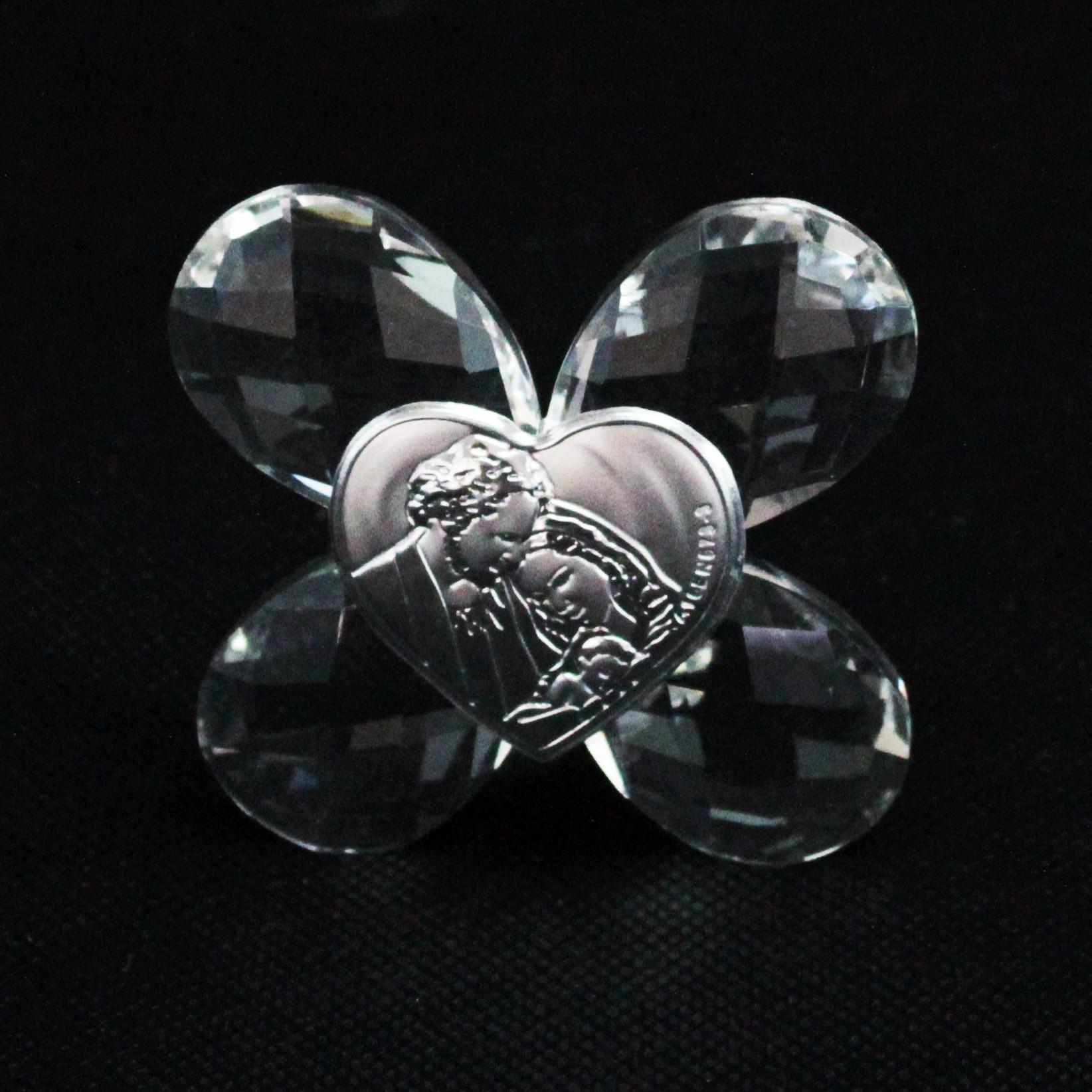 Icona in cristallo Quadrifoglio Sacra Famiglia