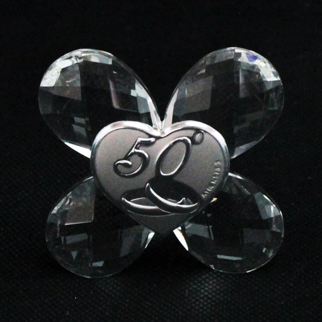 Icona in cristallo Quadrifoglio 50 Anniversario
