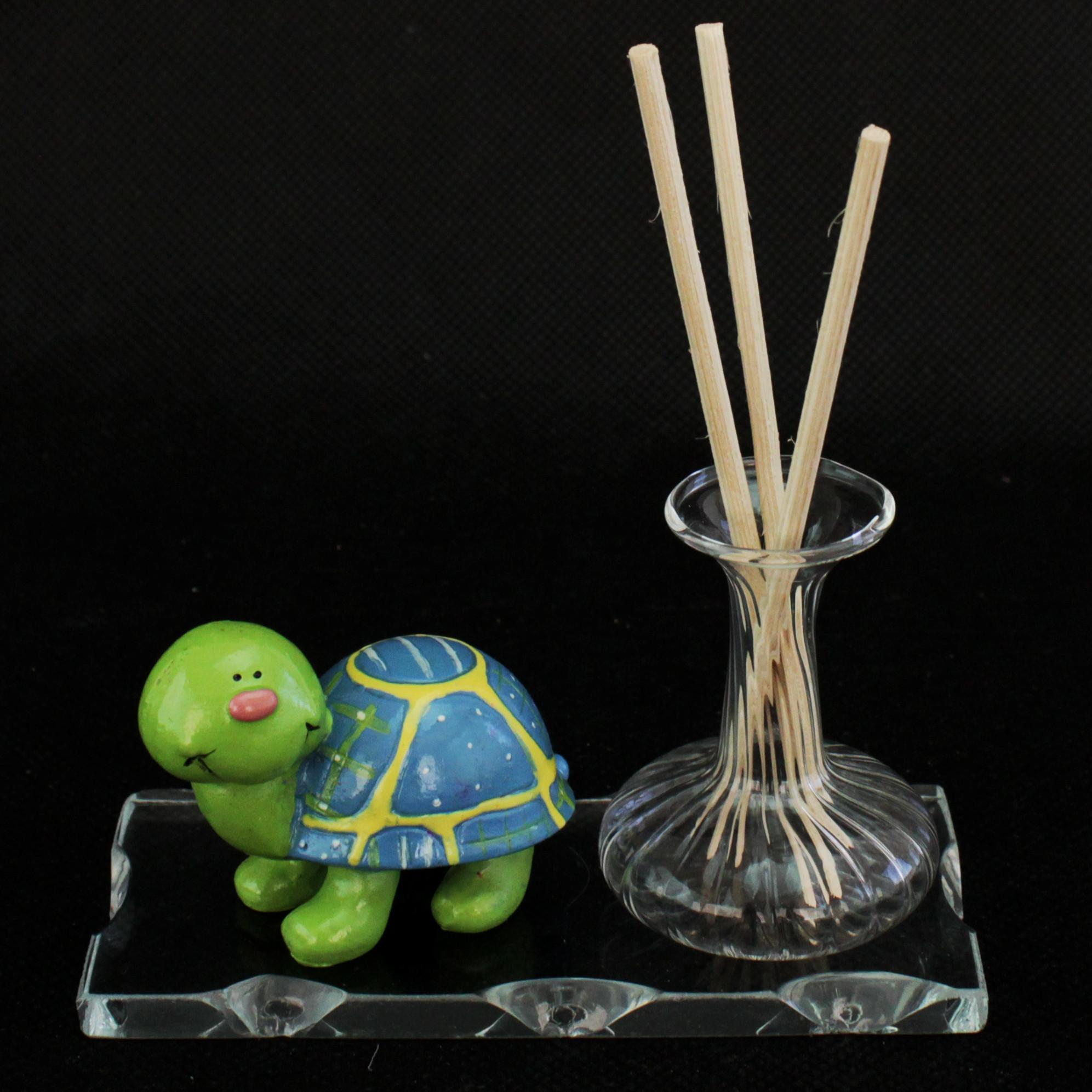 Profumatore in vetro soffiato coccinella tartaruga farfalla blu