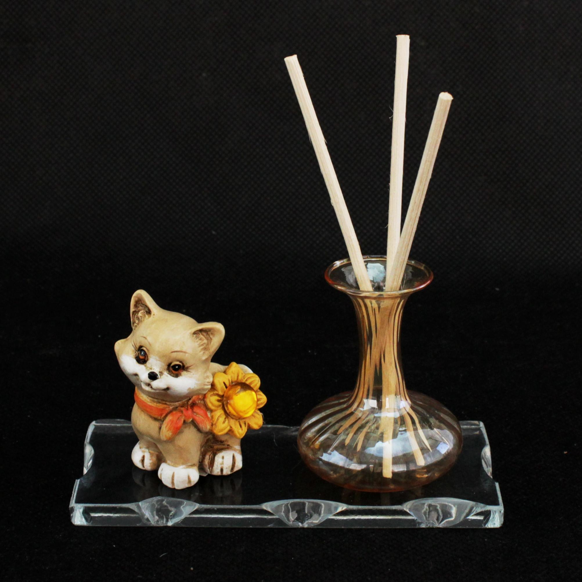 Profumatore in vetro soffiato coccinella cane gatto farfalla