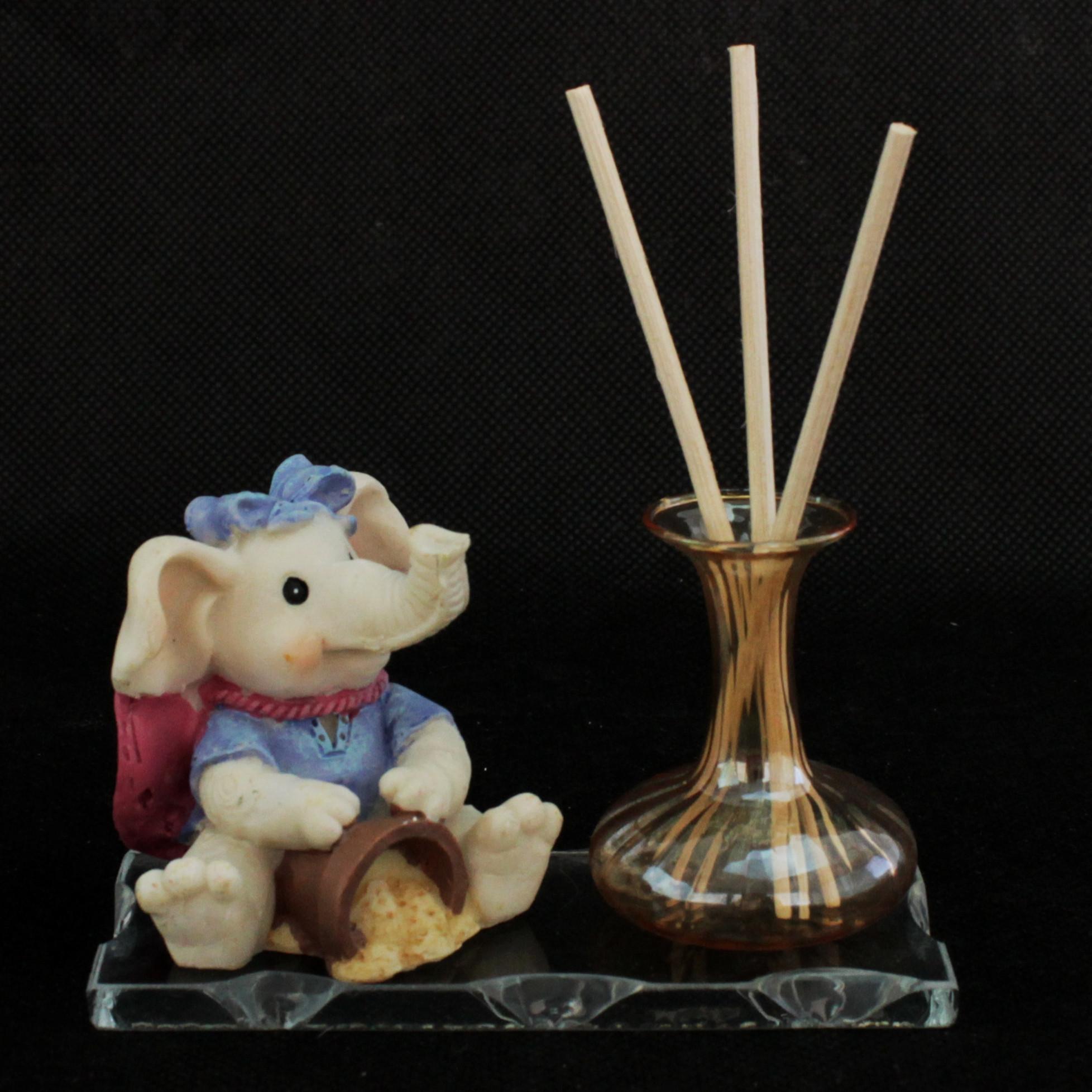Profumatore in vetro soffiato e cristallo con elefante per bimba