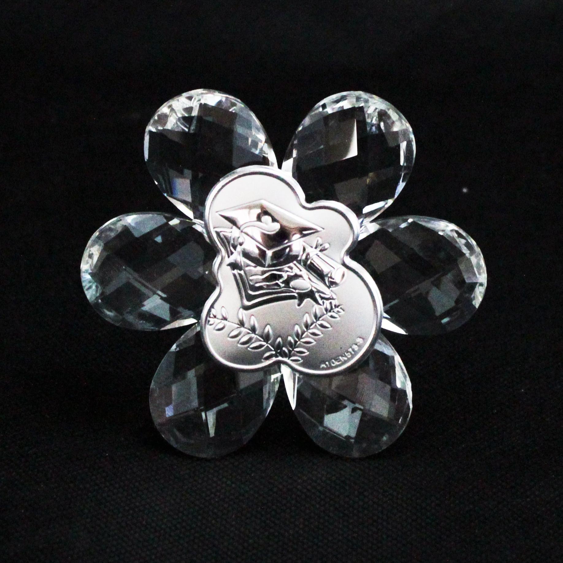 Icona in cristallo Fiore per Laurea