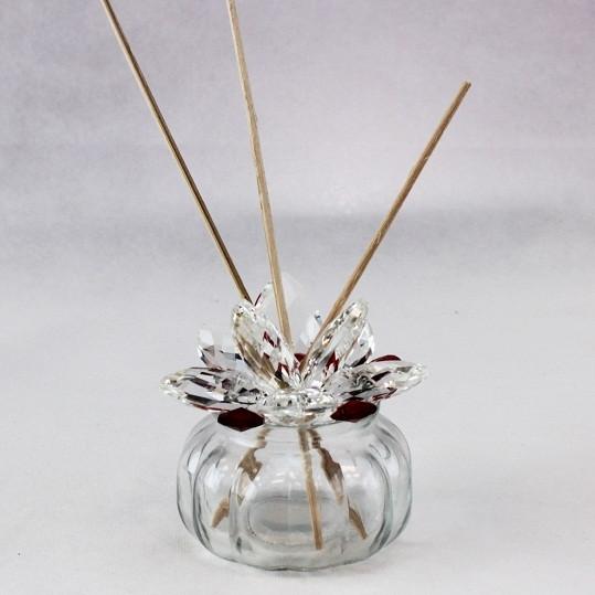 Profumatore Barattolo con fiore in Cristallo