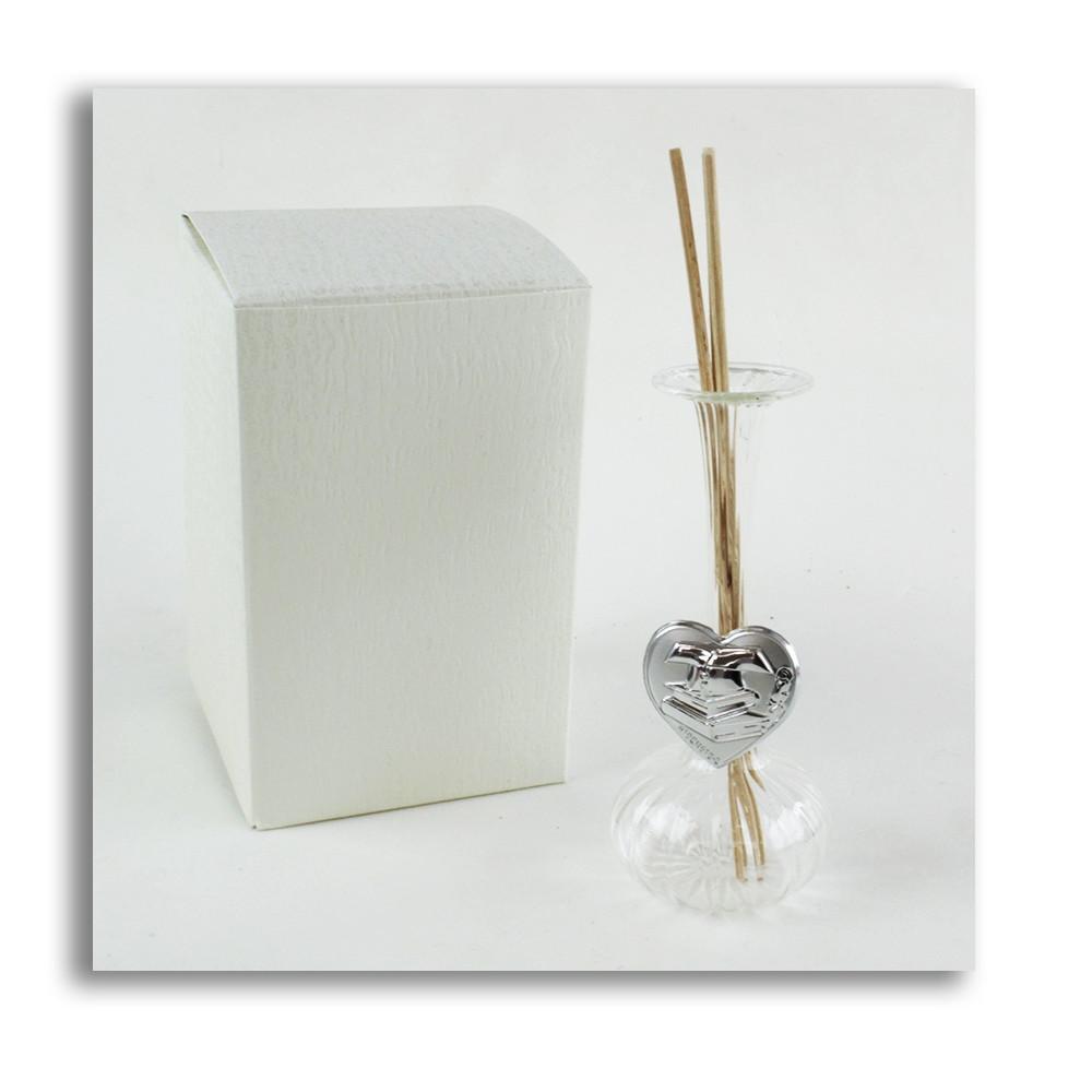 Diffusore Profumatore con Cuore Cappello Laurea Bottiglia in vetro soffiato