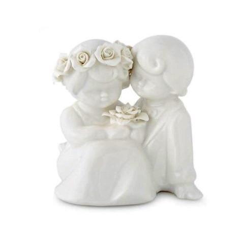 HERVIT Coppia sposi in porcellana bianca