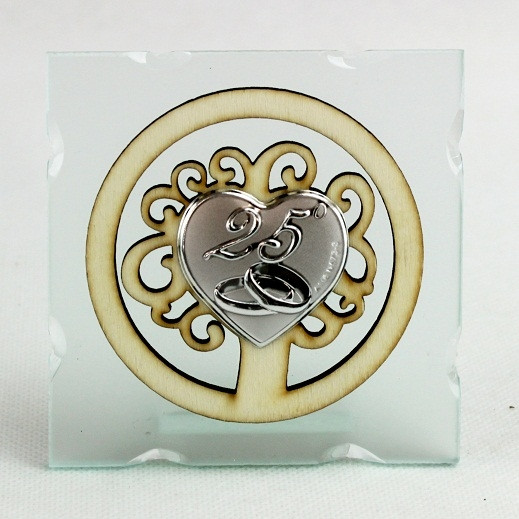 Icona in Vetro Albero della Vita per 25 Anniversario