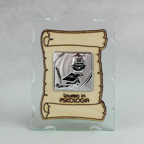 Icona in vetro con Pergamena Laurea in Psicologia