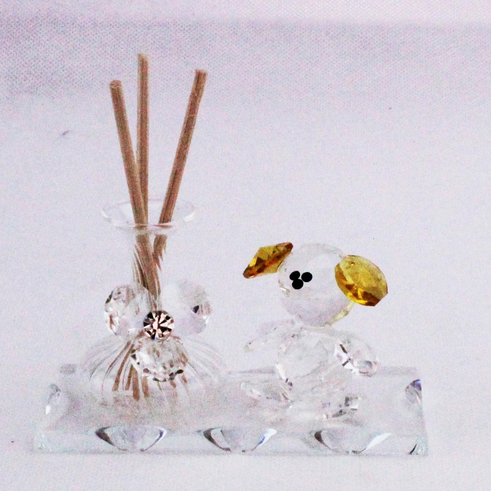 Profumatore Orsetto con Fiore in cristallo