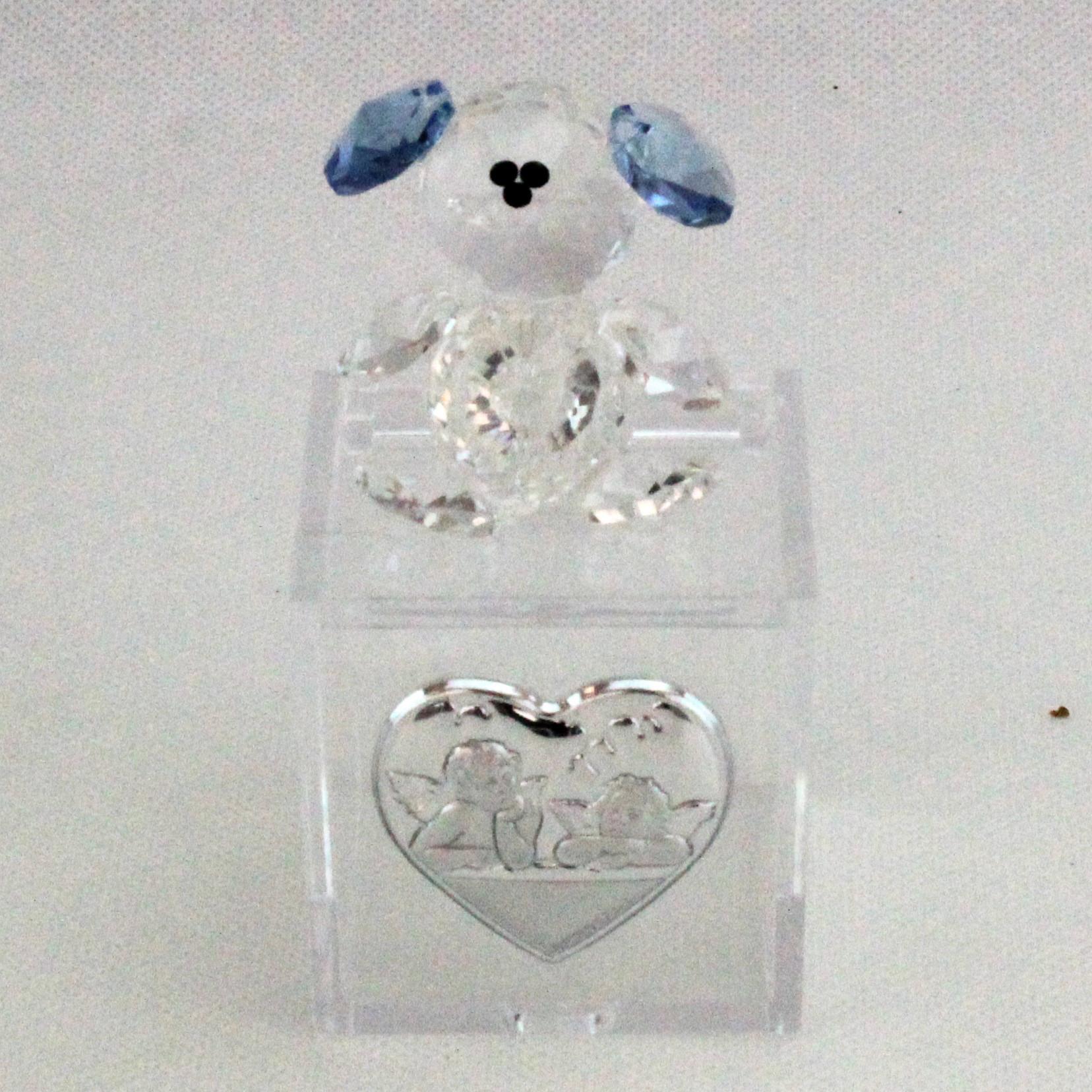 Scatoline in plastica con Orsetto in cristallo e piastra Angeli