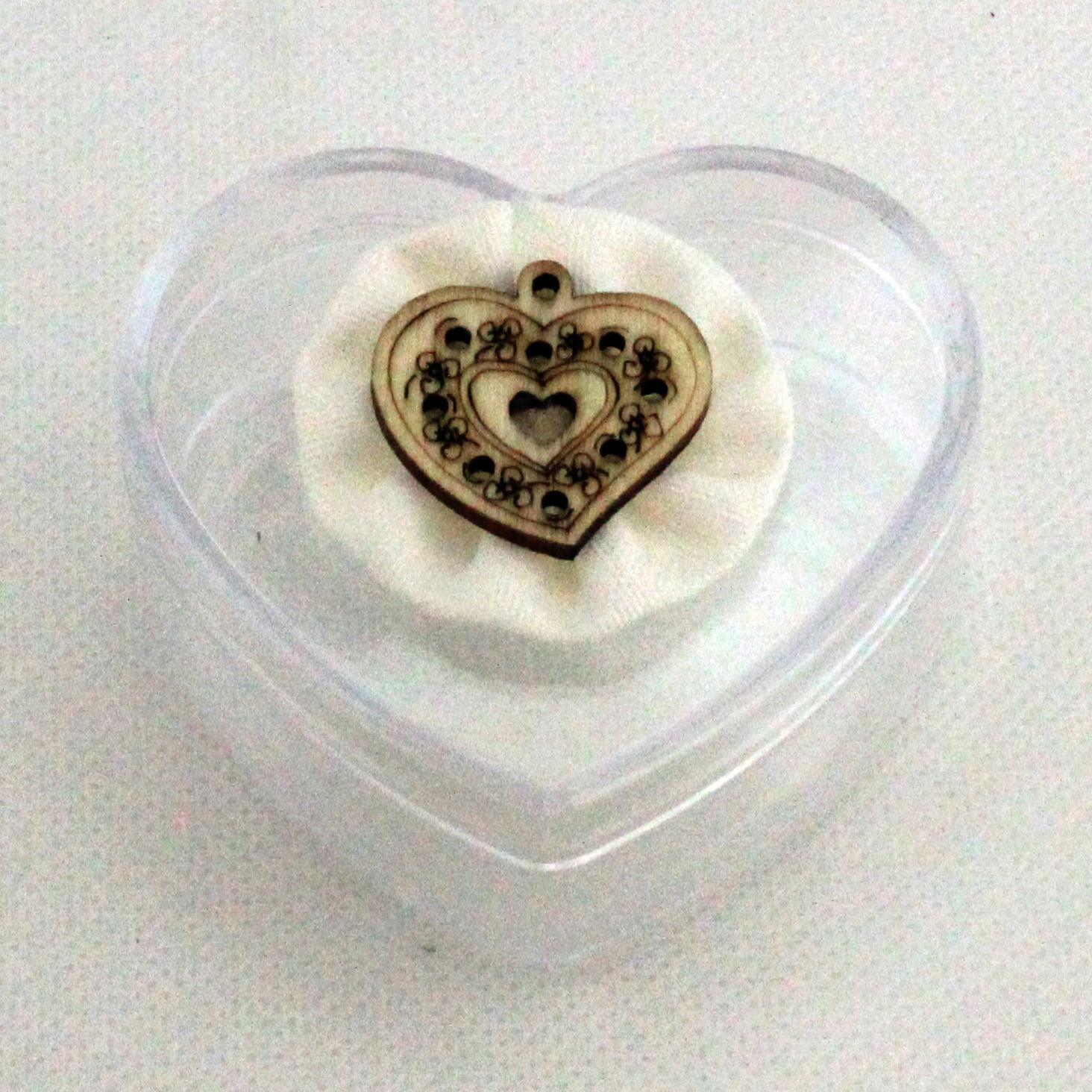 Scatolina cuore in plastica rigida fiore (kit 24 pezzi)