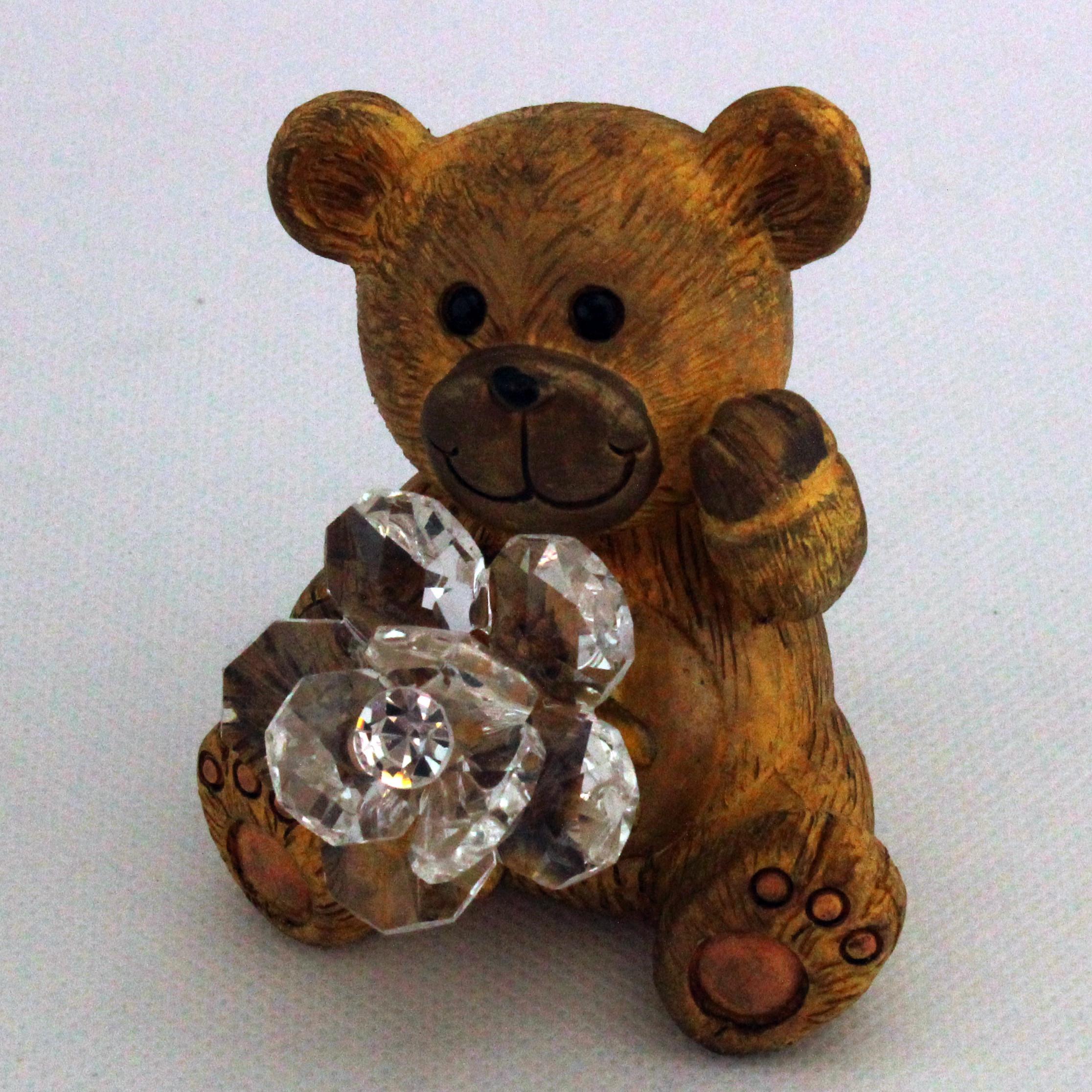 Animaletti in resina con Fiore in cristallo