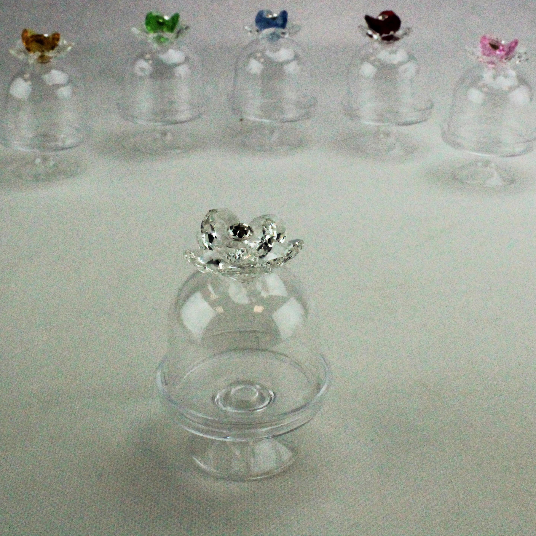 Scatolina alzatina con Fiore in cristallo_Trasparente