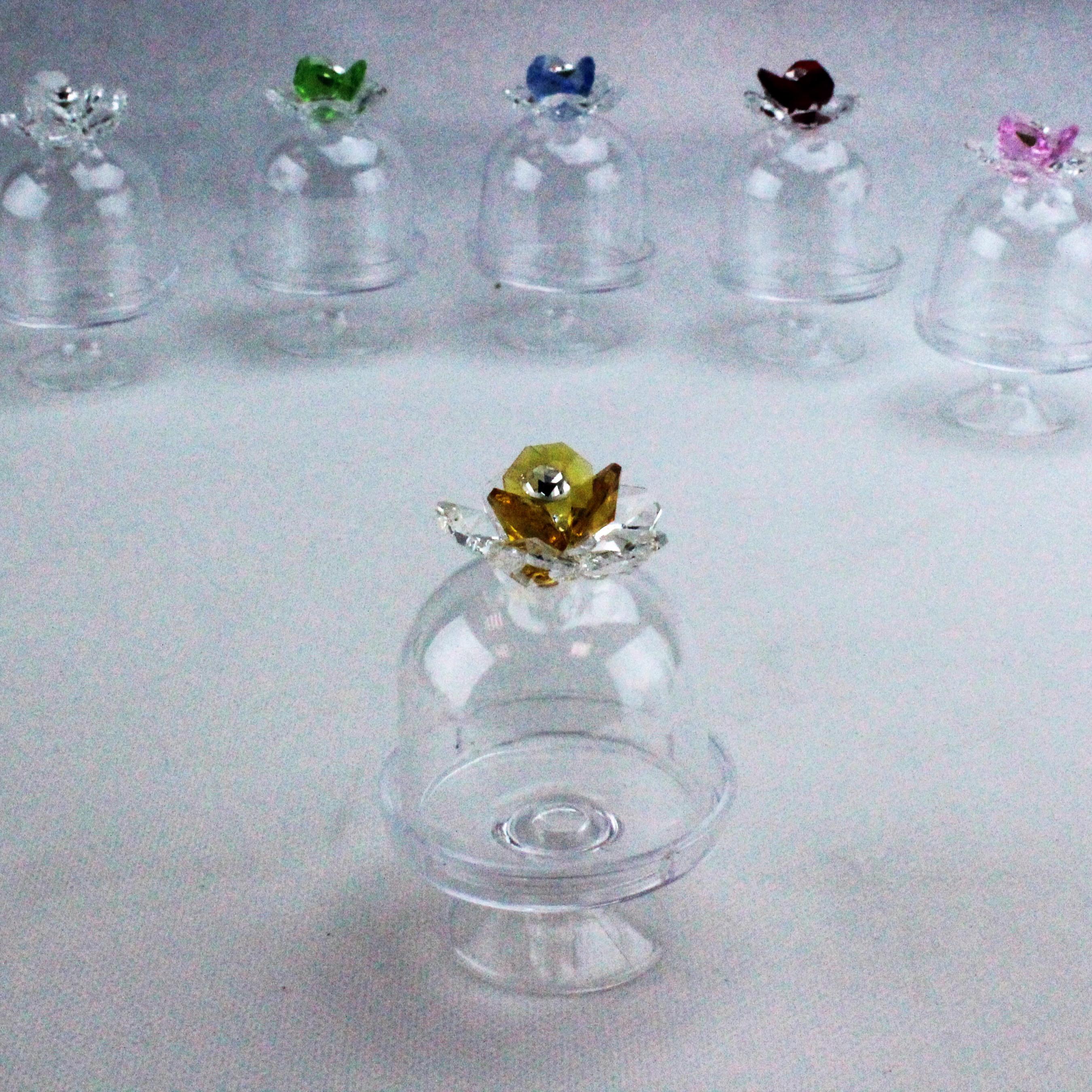 Scatolina alzatina con Fiore in cristallo_Giallo