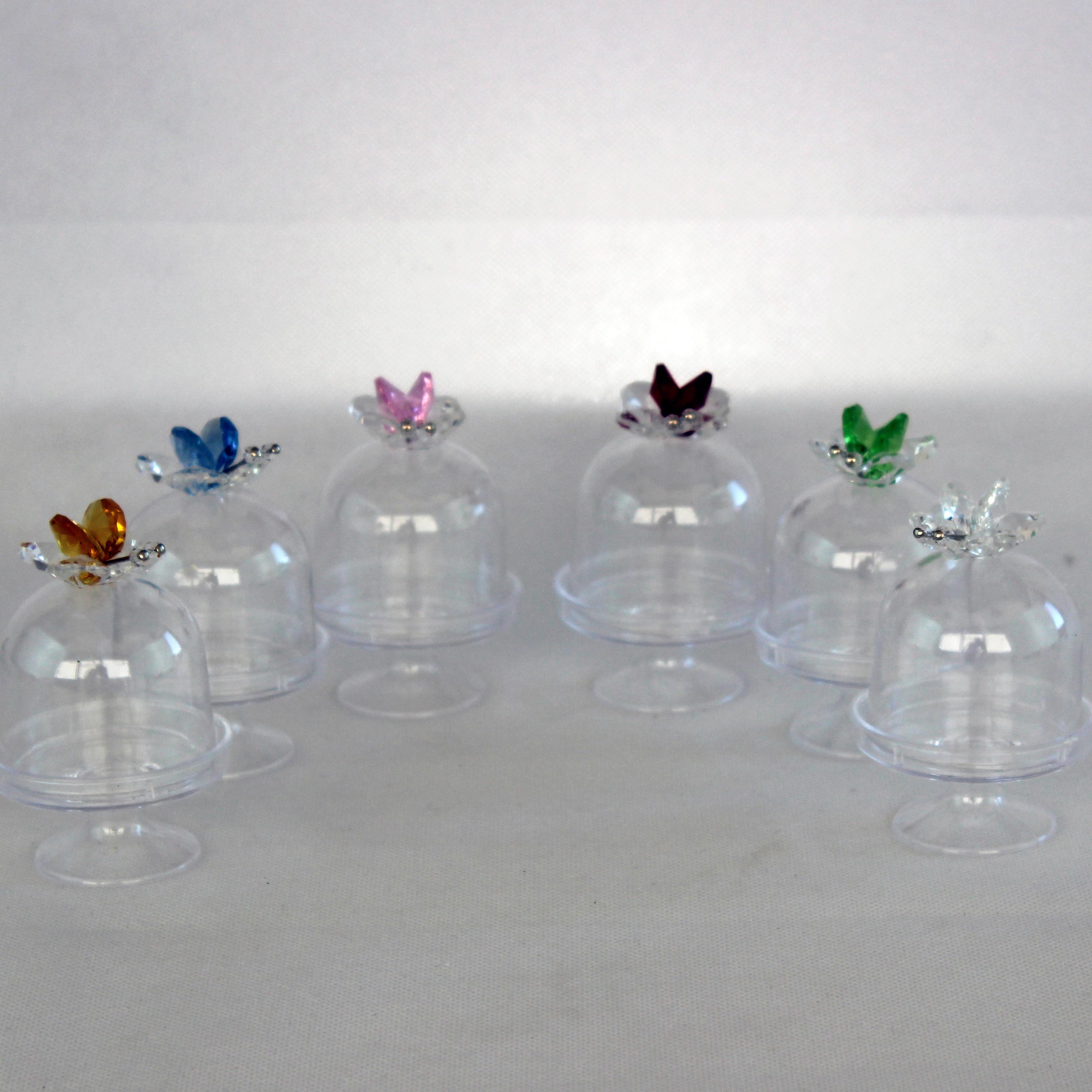 Scatolina alzatina con Farfalla in cristallo_Misti