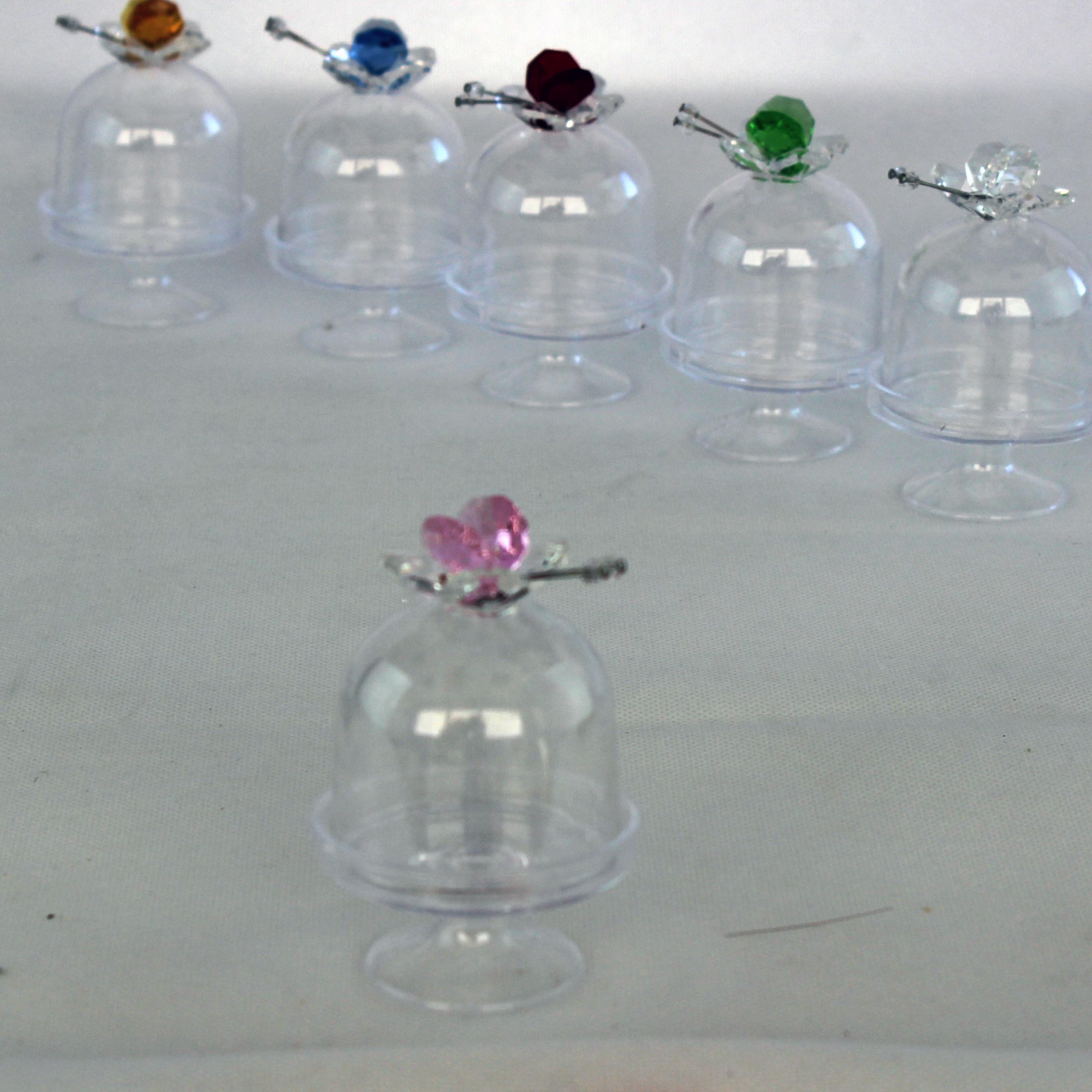 DLM - Scatolina alzatina con Farfalla in cristallo Rosa ...
