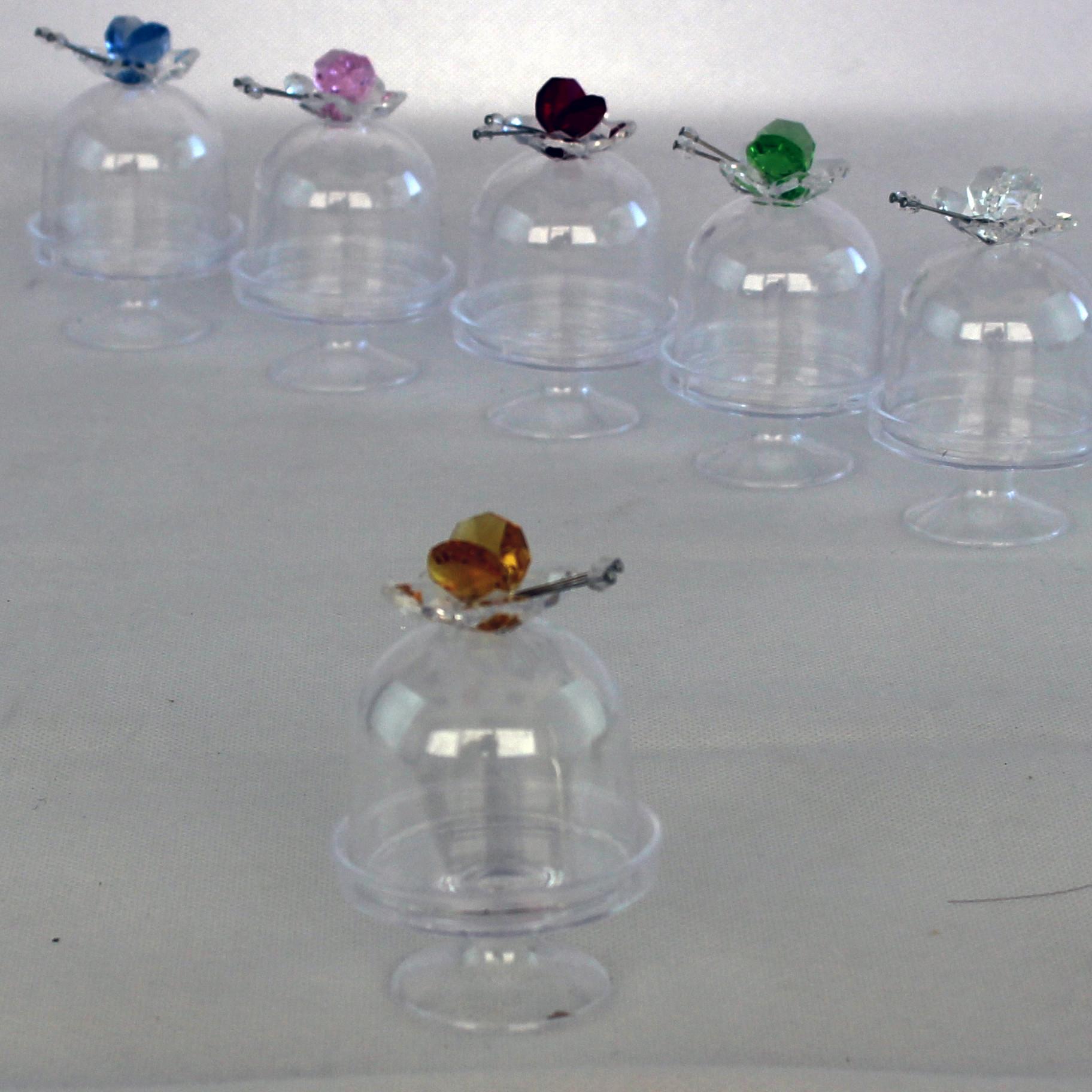 Scatolina alzatina con Farfalla in cristallo_Giallo