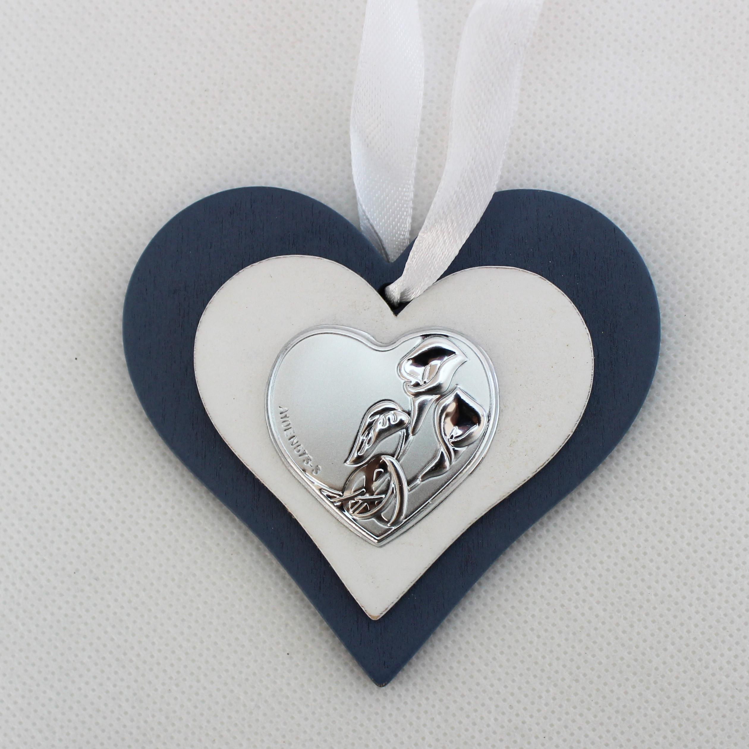 Icona cuore in legno per matrimonio con scatola