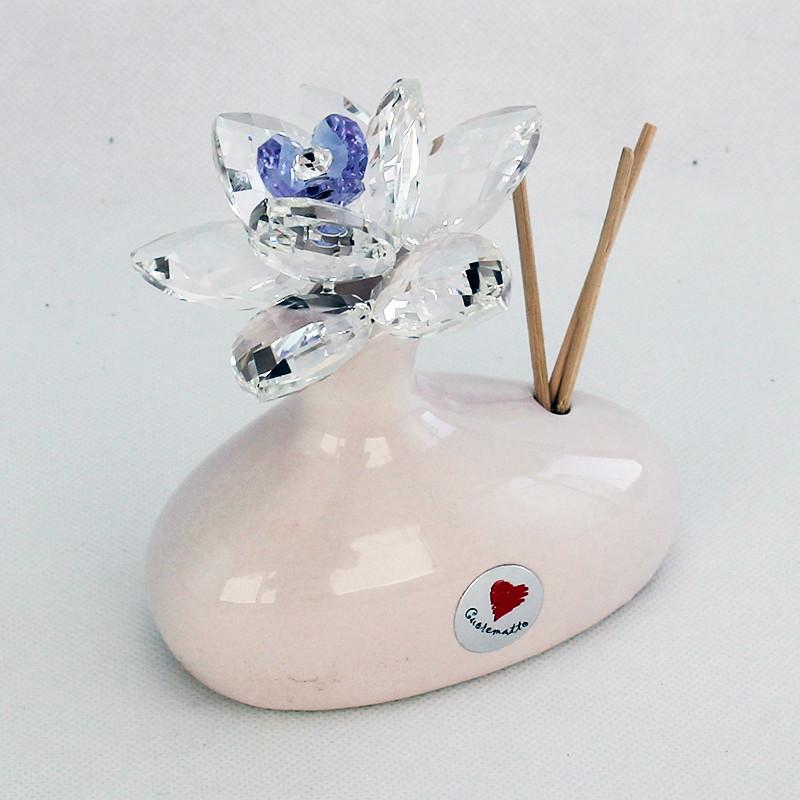 Profumatore in ceramica con fiore grande cristallo