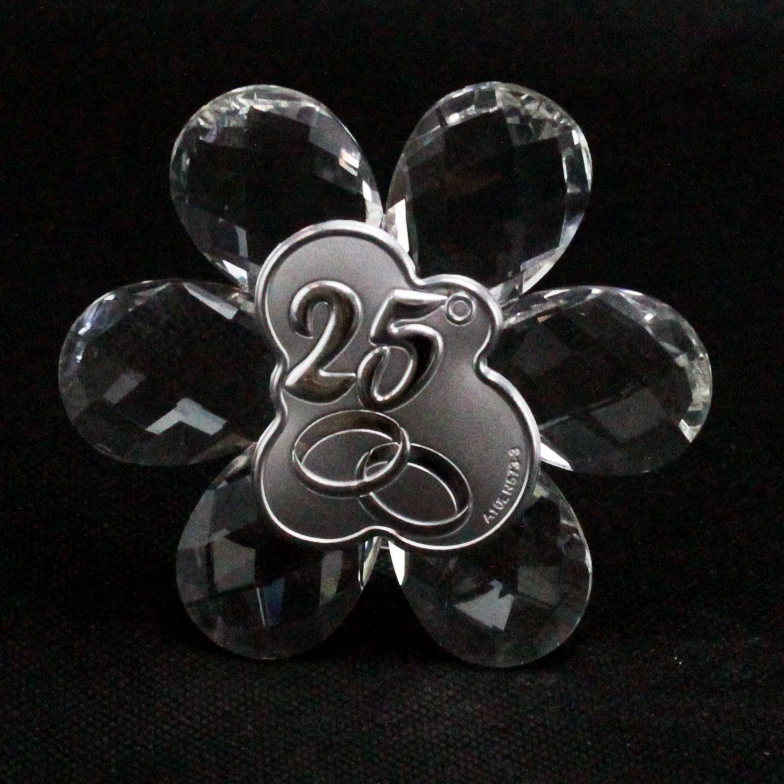 Icona in cristallo Fiore 25 Anniversario