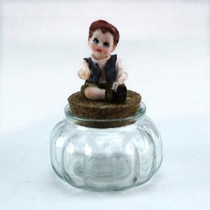Barattolo in vetro con Bimbo