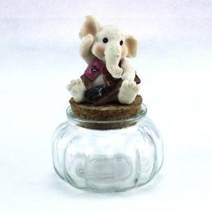 Barattolo in vetro con Elefante per Bimbo