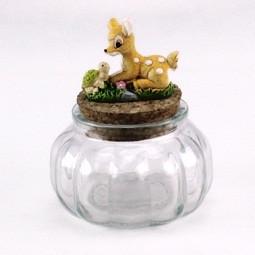 Barattolo in vetro con Cerbiatto e Tartaruga