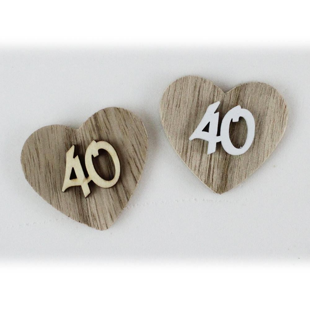 Quarantesimo Anniversario Matrimonio.Dlm Magnete Calamita Cuore 40 Quarantesimo Compleanno