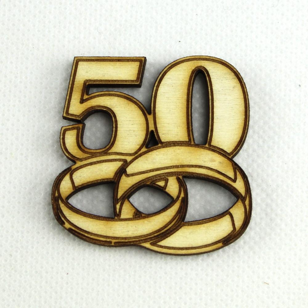 Dlm Magnete In Legno Confettata Segnaposto 50 Anniversario Nozze