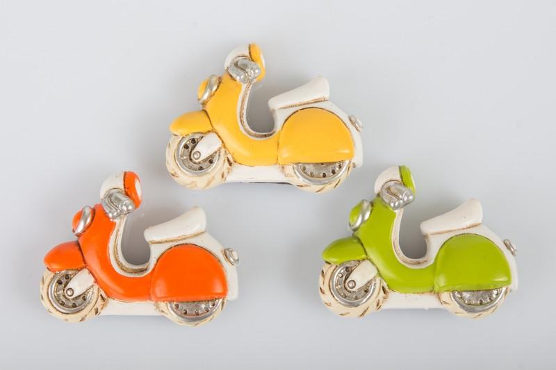 Magnete in Resina Confettata Segnaposto Moto Scooter Vespa Vespetta Veicoli