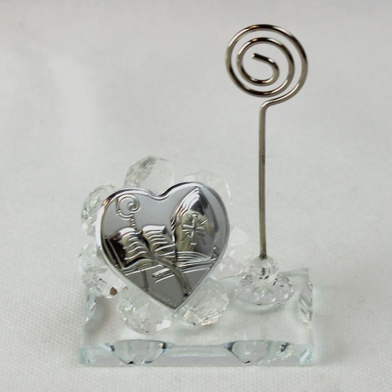 Portafoto Memo Clip Icona  in cristallo per Cresima