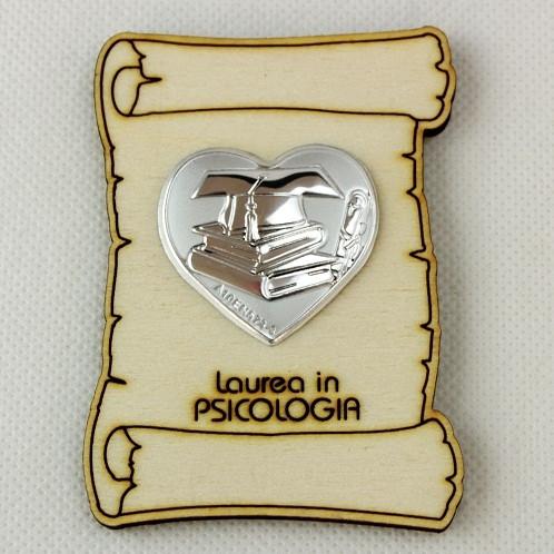 Calamita Magnete Pergamena Cuore Laurea in Psicologia