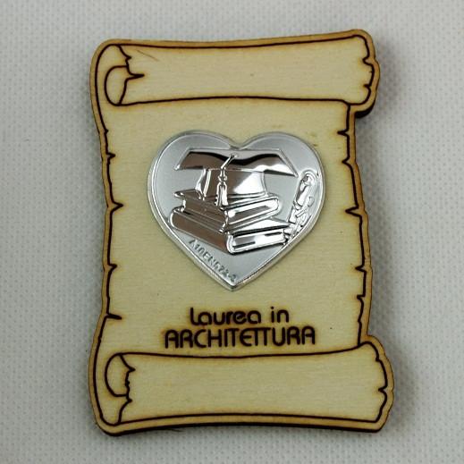 Calamita Magnete Pergamena Cuore Laurea in Architettura