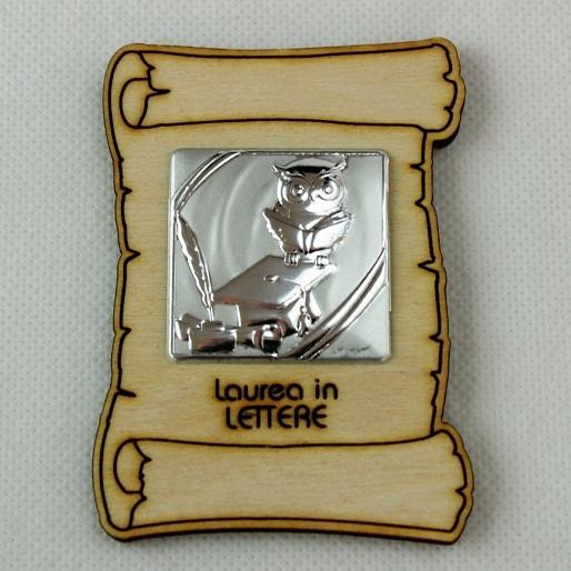 Calamita Magnete Pergamena Laurea in Lettere