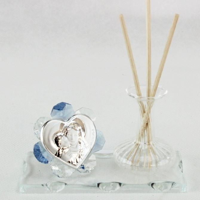 Profumatore in vetro soffiato e cristallo Madonna con Bambino