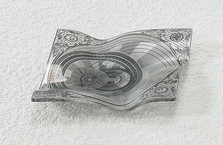Piattino centritavola, Gattinoni completo di scatola-12,5x12,5 cm