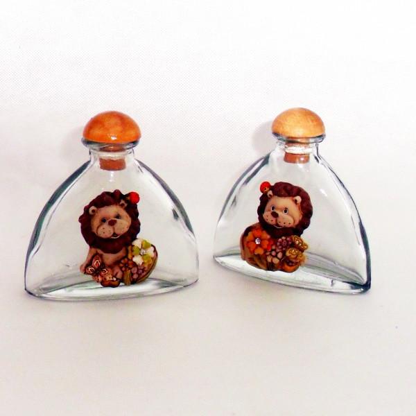 Bottiglia Barattolo in vetro con Leone Assortiti