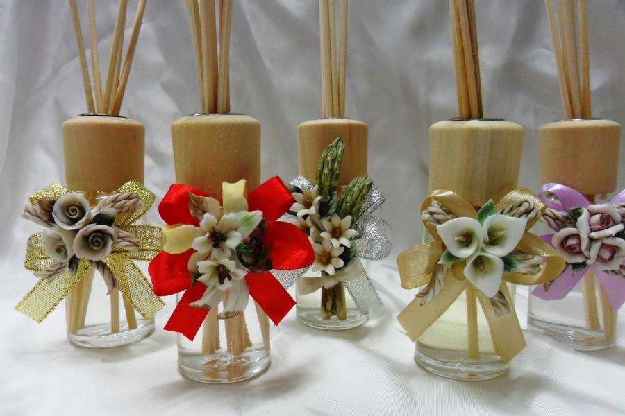Diffusore con fiori in porcellana
